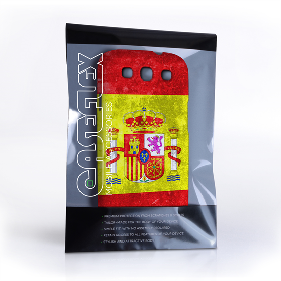 Caseflex Samsung Galaxy S3 Retro Spain Flag Case