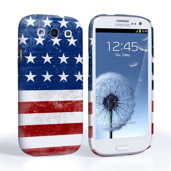 Caseflex Samsung Galaxy S3 Retro USA Flag Case