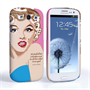 Caseflex Samsung Galaxy S3 Marilyn Monroe 'Fear is Stupid' Quote Case