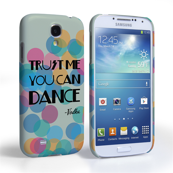 Caseflex Samsung Galaxy S4 Vodka Dance Quote Hard Case – Green