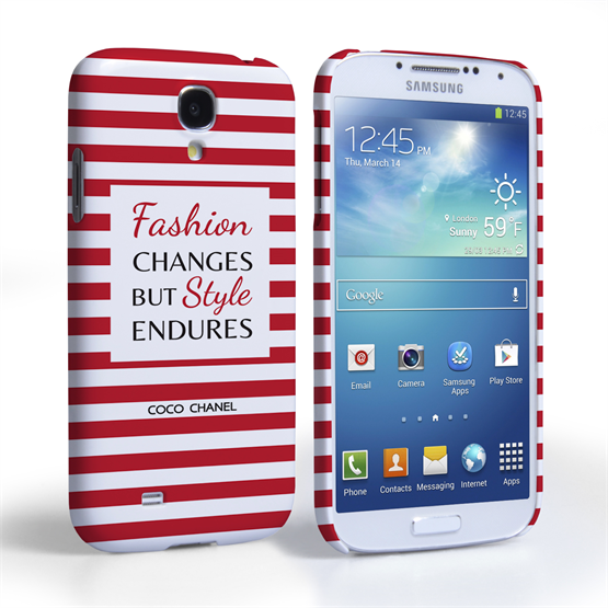 Caseflex Samsung Galaxy S4 Chanel 'Fashion Changes' Quote Case – Red and White
