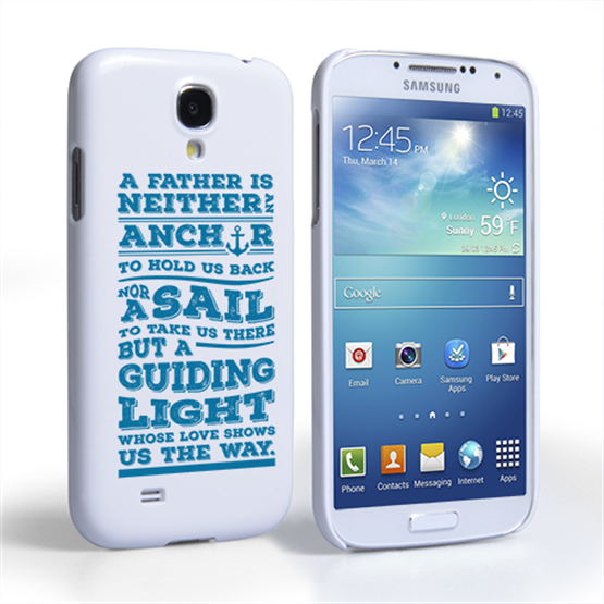 Caseflex Father Sail Quote Samsung Galaxy S4 Case