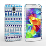 Caseflex Samsung Galaxy S5 Fairisle Christmas Tree Hard  White / Blue