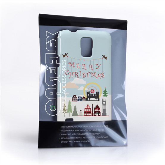 Caseflex Samsung Galaxy S5  Merry Christmas Pattern Hard Case