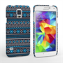 Caseflex Samsung Galaxy S5 Fairisle Case – Grey with Blue Background