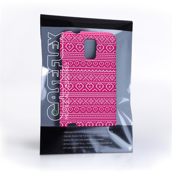 Caseflex Samsung Galaxy S5 Case Fair Isle Heart Case - Pink