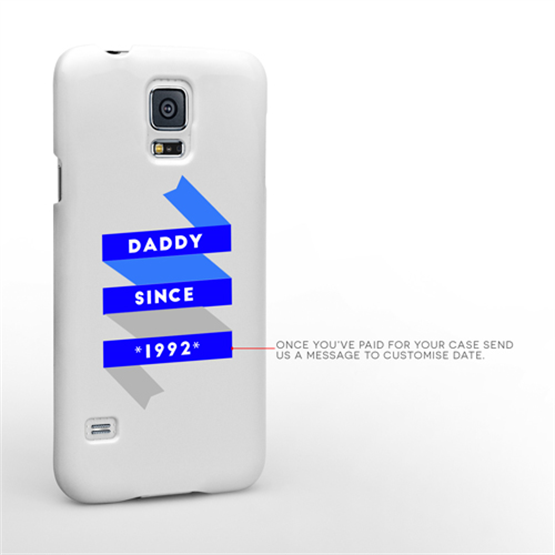 Caseflex Daddy Custom Year Samsung Galaxy S5 Case - White