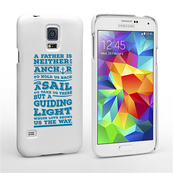 Caseflex Father Sail Quote Samsung Galaxy S5 Case