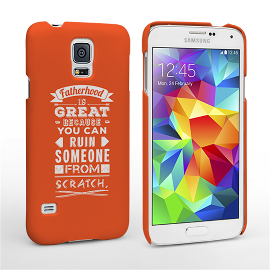 Caseflex Fatherhood Funny Quote Samsung Galaxy S5 Case – Orange