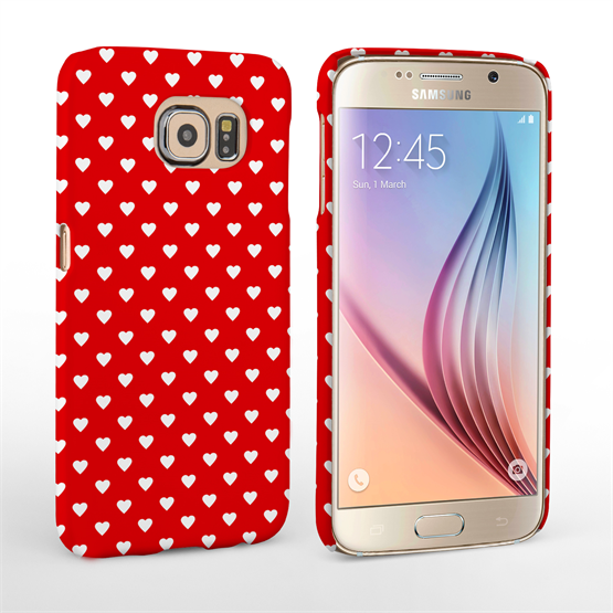 Caseflex Samsung Galaxy S6 Cute Hearts Case - Red