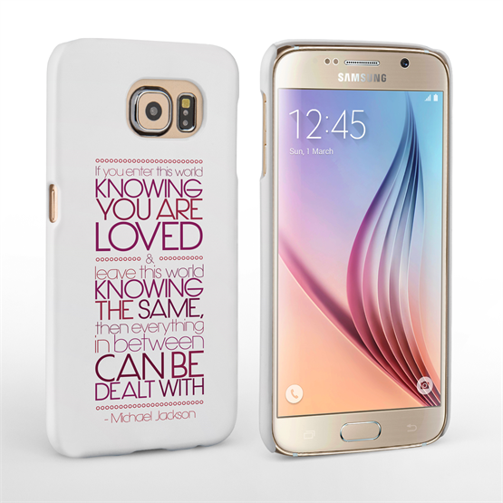 Caseflex Samsung Galaxy S6 Michael Jackson Quote Case
