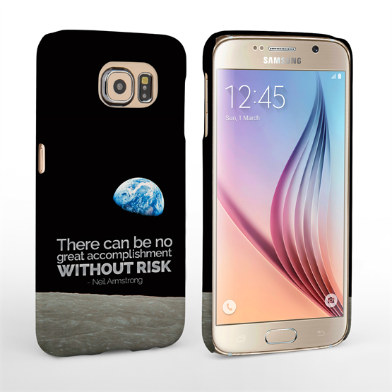 Caseflex Samsung Galaxy S6 Neil Armstrong Quote Case