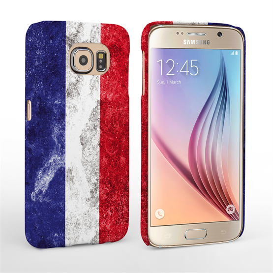 Caseflex Samsung Galaxy S6 Retro France Flag Case