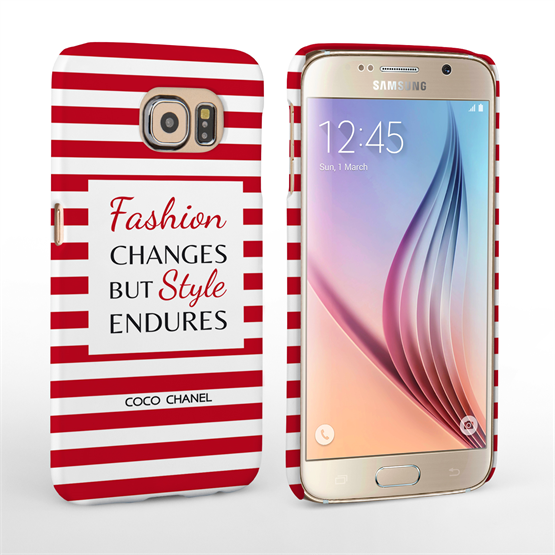 Caseflex Samsung Galaxy S6 Chanel 'Fashion Changes' Quote Case – Red and White