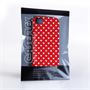 Caseflex  iPhone 4 / 4S Shimmering Hearts Case - Red and White