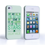 Caseflex iPhone 4 / 4S Wilde Stars Quote Hard Case – White and Green