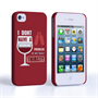 Caseflex iPhone 4 / 4S 'Really Thirsty' Quote Hard Case – Red