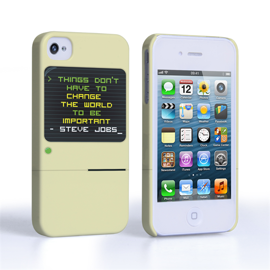 Caseflex iPhone 4 / 4s Steve Jobs Quote Case