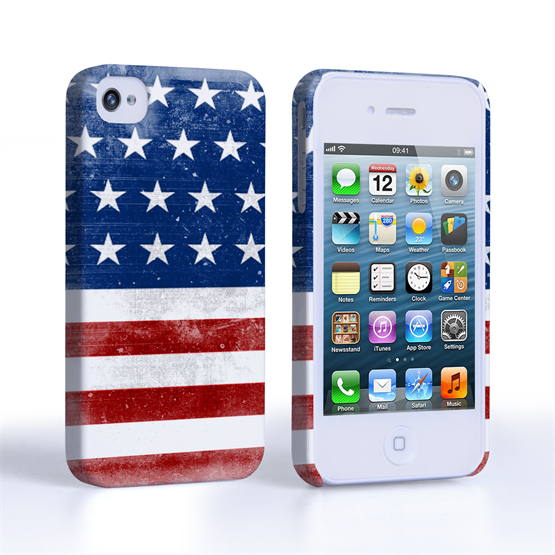 Caseflex iPhone 4 / 4S Retro USA Flag Case