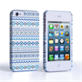 Caseflex iPhone 4/4S Fairisle Case – Blue with White Background