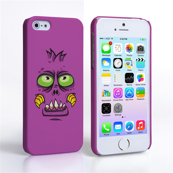 Caseflex iPhone SE Monster Hard Case - Purple