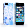 Caseflex iPhone SE Winter Christmas Snowflake Cover – Blue