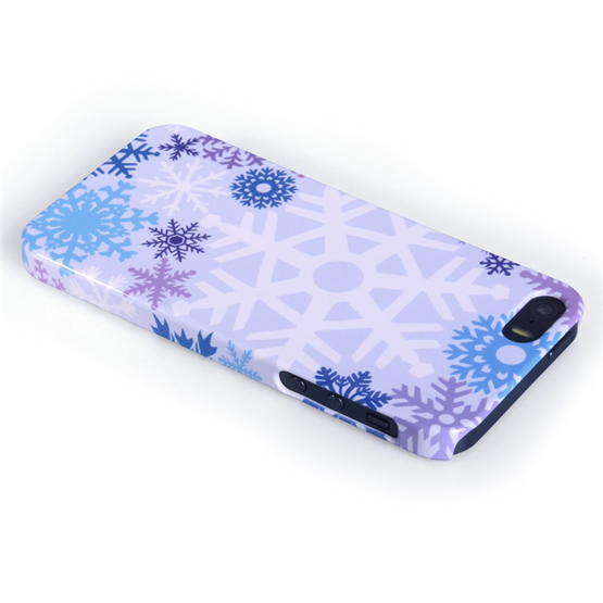 Caseflex iPhone 5 / 5S Winter Christmas Snowflake Cover – Purple