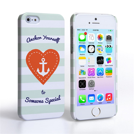 Caseflex iPhone 5 / 5S Anchor Love Heart Case