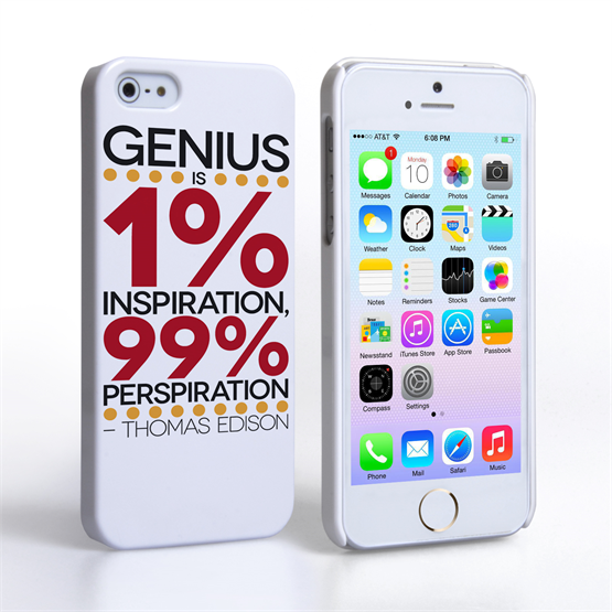 Caseflex iPhone SE Thomas Edison Quote Case