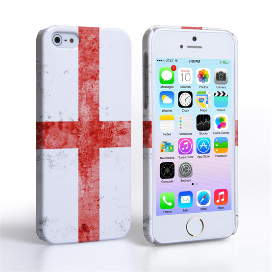 Caseflex iPhone SE Retro England Flag Case