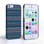 Caseflex iPhone 5/5S Fairisle Case – Grey with Blue Background