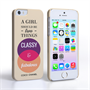 Caseflex iPhone 5/5s Chanel 'Classy and Fabulous' Quote Case