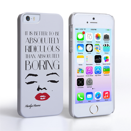 Caseflex iPhone SE Marilyn Monroe Face Quote Case