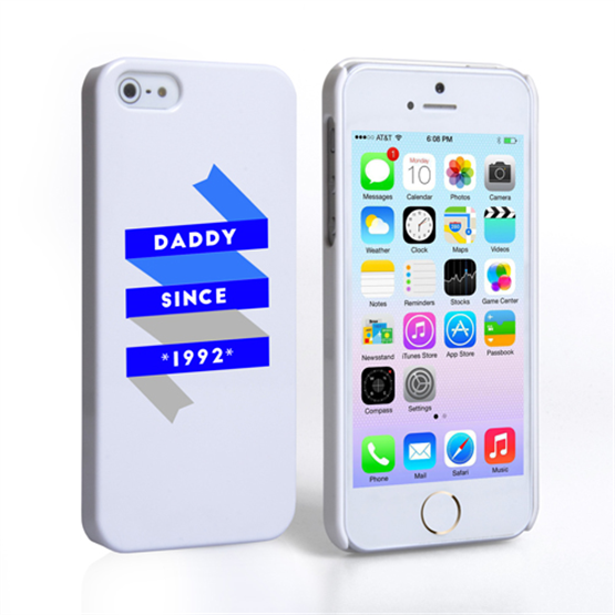 Caseflex Daddy Custom Year iPhone 5 / 5S Case - White