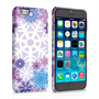 Caseflex iPhone 6 and 6s Winter Christmas Snowflake Hard Case - Purple / Blue