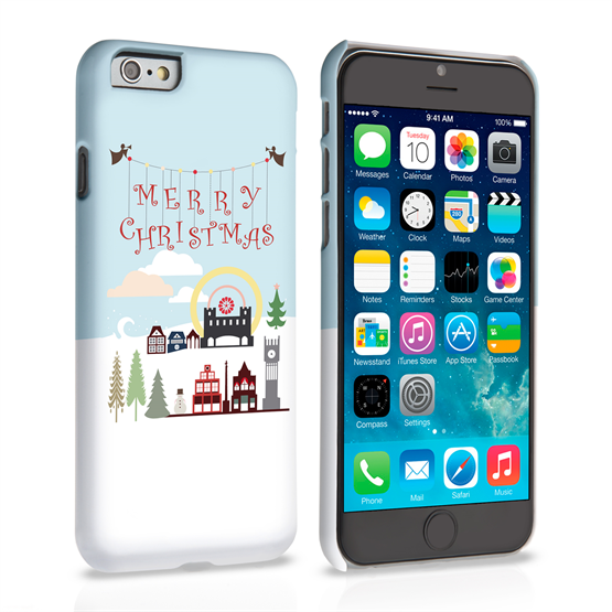 Caseflex iPhone 6 and 6s  Merry Christmas Pattern Hard Case