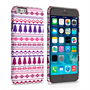 Caseflex iPhone 6 and 6s Christmas Tree Hard Case - Pink / Purple