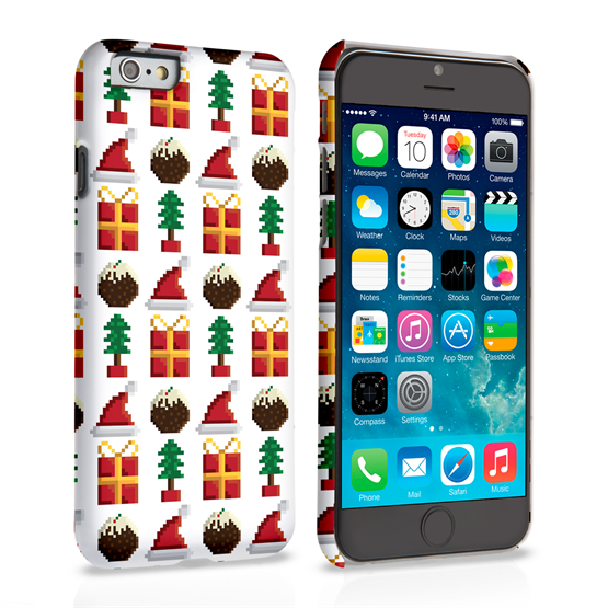 Caseflex iPhone 6 and 6s Retro Game Christmas Presents And Pudding Hard Case