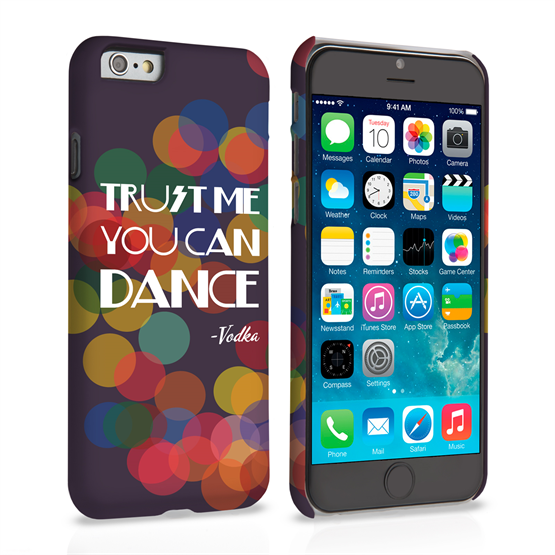Caseflex iPhone 6 and 6s Vodka Dance Quote Hard Case – Purple