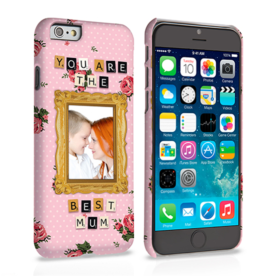 Caseflex iPhone 6 and 6s 'You are the best Mum' Personalised Hard Case – Pink