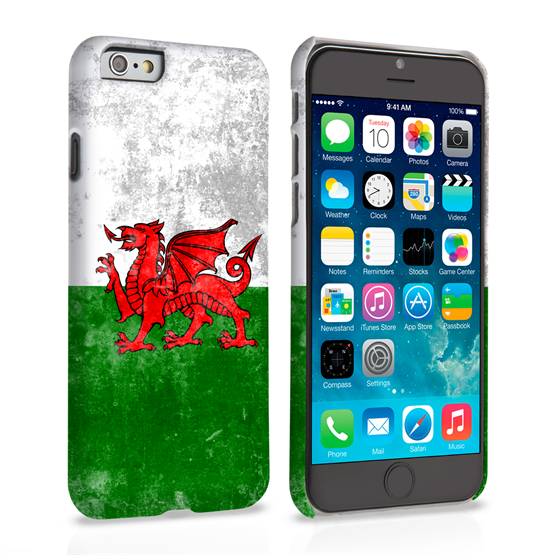 Caseflex iPhone 6 and 6s Retro Wales Flag Case