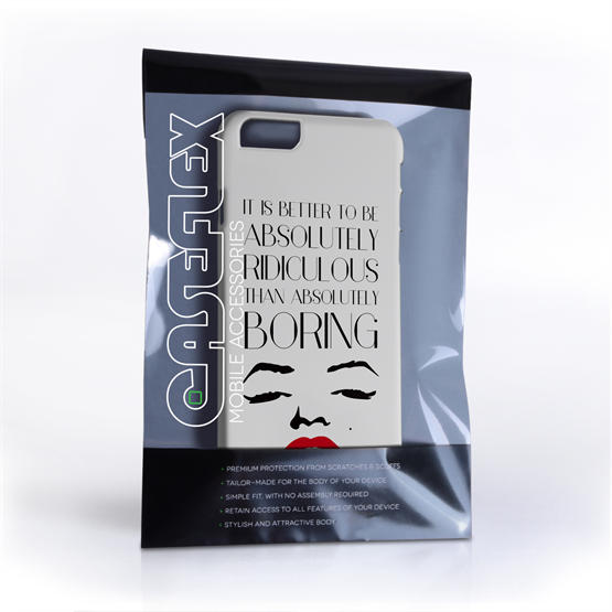 Caseflex iPhone 6 and 6s Marilyn Monroe Face Quote Case