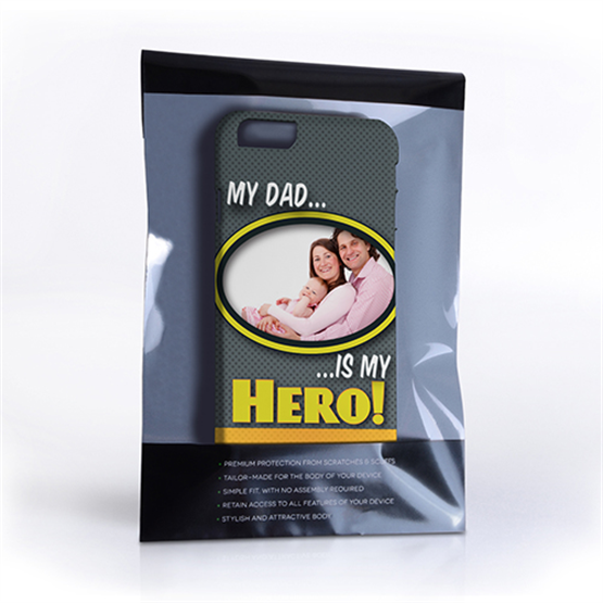 My Dad, My Hero Customised Photo iPhone 6 and 6s Case - Grey