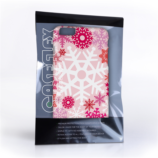 Caseflex iPhone 6 Plus and 6s Plus Winter Christmas Snowflake Hard Case - Red / Pink