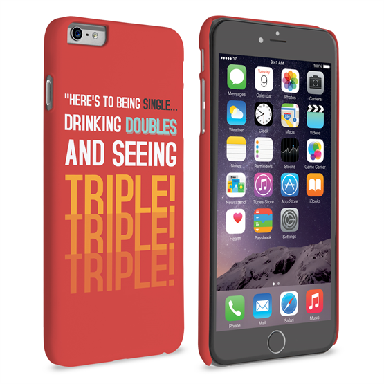 Caseflex iPhone 6 Plus and 6s Plus Single, Double, Triple Quote Hard Case – Red