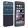 Caseflex iPhone 6 and 6s Plus Fairisle Case – Grey and Blue Half Pattern