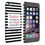 Caseflex iPhone 6 Plus and 6s Plus Chanel 'Fashion Changes' Quote Case – Black and White