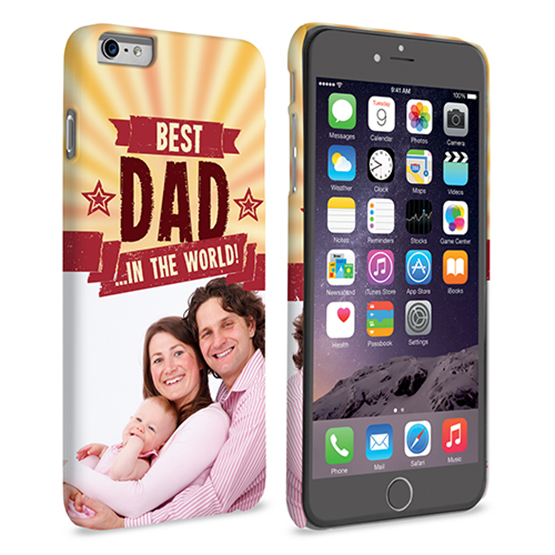 Caseflex iPhone 6 and 6s Plus Best Dad in the World (Red) Case/Cover