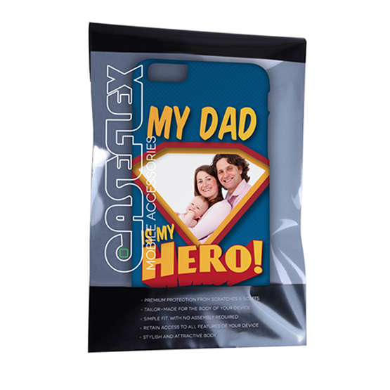 Caseflex My Dad, My Hero Customised Photo iPhone 6 and 6s Plus Case – Blue