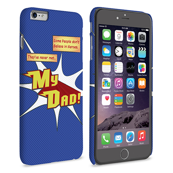 Caseflex My Dad Hero Cartoon iPhone 6 and 6s Plus Case – Blue